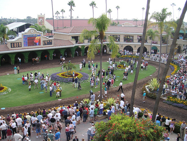 Paddock area at Del Mar. Photo: ibison4/Flickr.