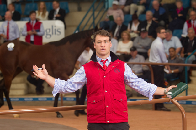 A bid spotter at the 2013 Easter Sale. Photo: William Inglis & Son.