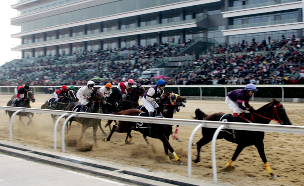 Orient Lucky City Racecourse in Wuhan City. Photo: Imaginechina