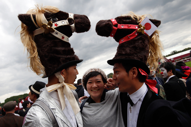 Japanese racegoers at the 2013 Arc. Photo: AP Photo/Francois Mori