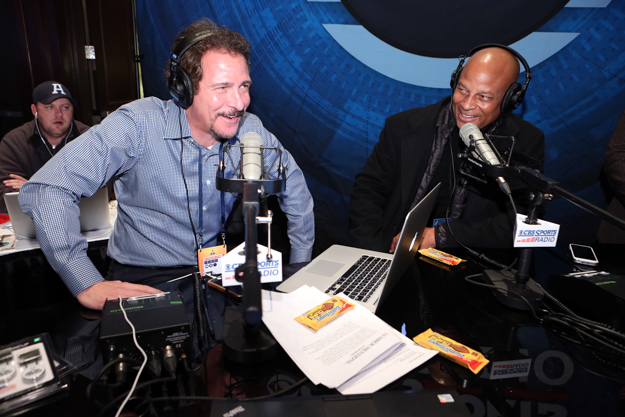 "Jim Rome talks to NFL legend Ronnie Lott on ""The Jim Rome Show"" broadcast on CBS Sports Radio. Photo: Casey Rodgers/Invision for Butterfinger Peanut Butter Cups/AP Images."