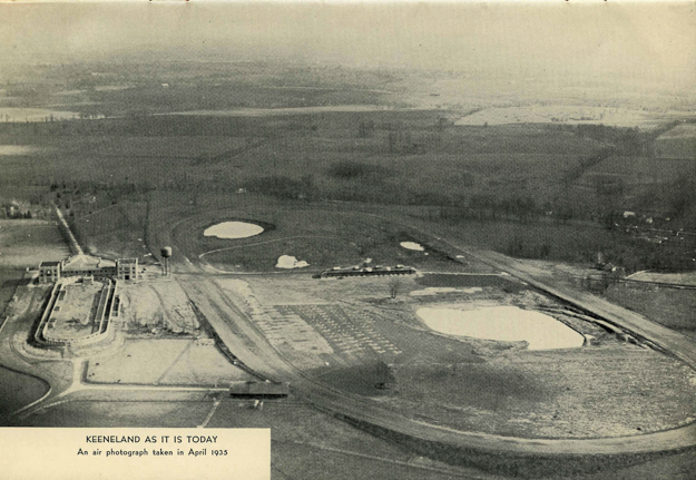 Aerial photo of Keeneland in April 1935. Photo: Keeneland.