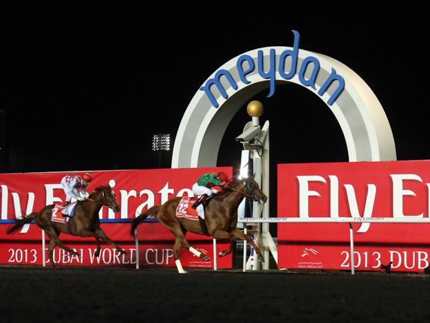 Animal Kingdom, Joel Rosario up, wins the 2013 Dubai World Cup. Photo: Frank Sorge/RacingFotos.com