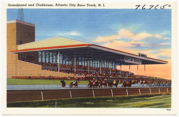 Atlantic City Race Course, 1930-1945 approximate. Image via the Boston Public Library