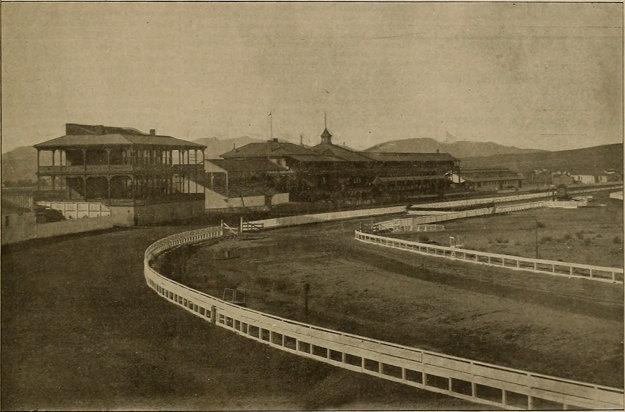 Bay District Racing Track (1873-1896) was, in its heyday, probably the best-appointed track on the West Coast. Image from The Breeder and Sportsman, vol. XXVIII, 1896