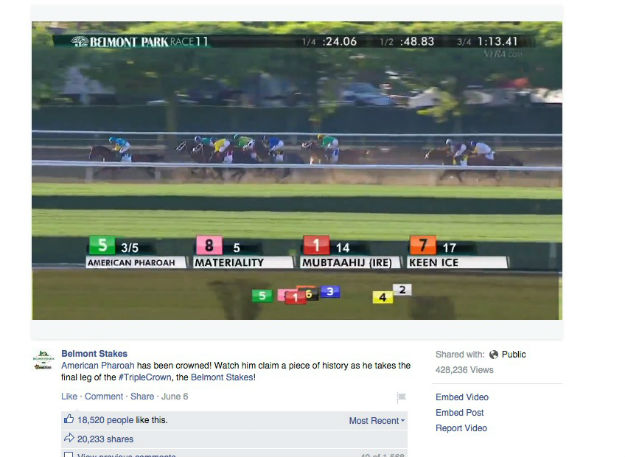 Belmont Stakes FB post