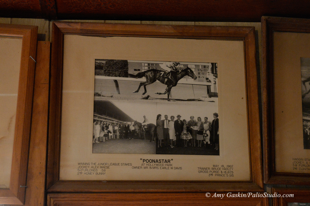 A framed photo of Poonastar's win in the 1962 Junior League Stakes at Hollywood Park is one of the oldest photos hanging in Bruce Headley's office. Photo: Amy Gaskin/PalioStudio.com
