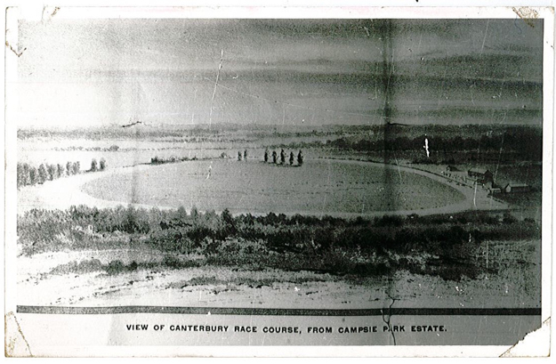 Canterbury Park Racecourse in 1886. Photo: City of Canterbury Local History Photograph Collection.