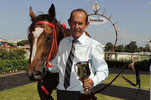 Trainer Mick Tubman with Chance Bye at Rosehill on Feb. 27, 2010. Photo: