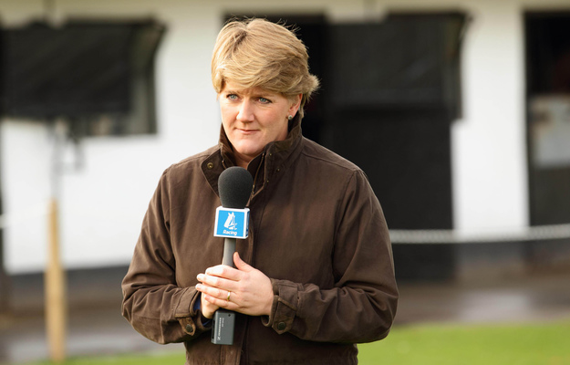Clare Balding presenting for Channel 4 Racing. Photo: Matthew Webb/RacingFotos.com