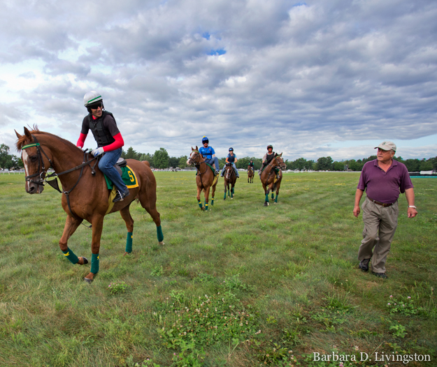 Sheppard and Divine Fortune at Saratoga Race Course. Photo: Barbara D. Livingston.
