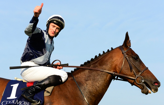 Billy Lee gives a thumbs up after winning the G1 Coolmore Fastnet Rock Matron Stakes. Photo: RacingFotos.com