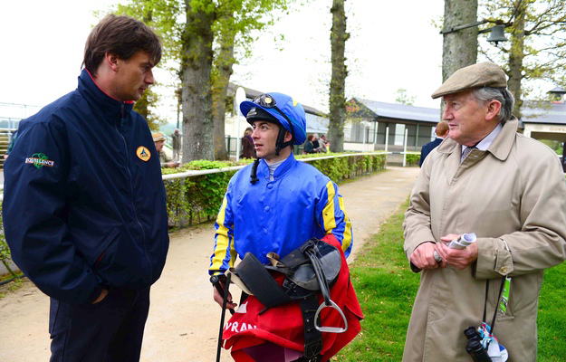 From left to right: Fozzy Stack, Wayne Lordan, and Tommy Stack at Gowran. Photo: Healy Racing/RacingFotos.com