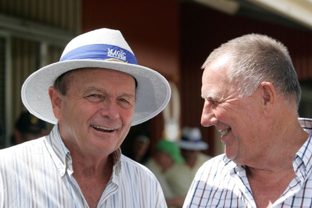 Gerry Harvey (left) and John Singleton. Photo: Magic Millions.