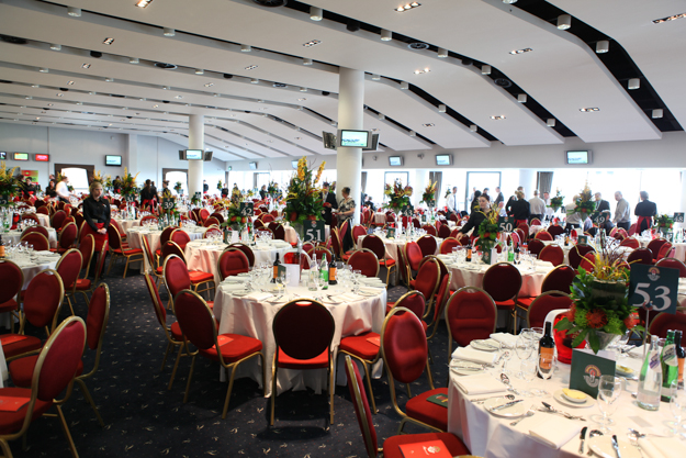 One of the many dining areas at Aintree. Photo: Aintree Racecourse.