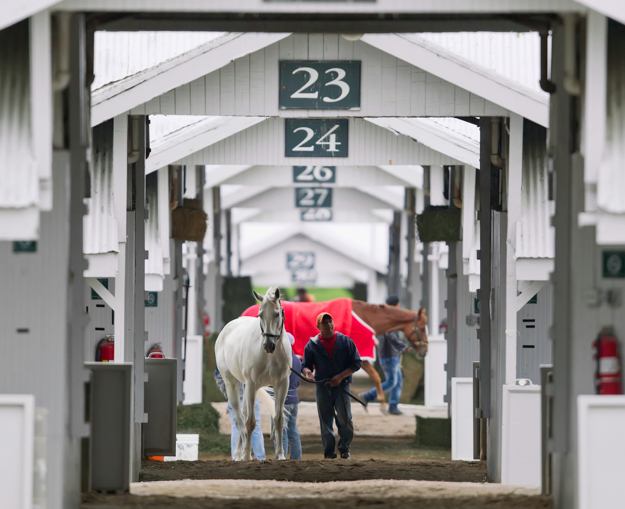 Barn area at Keeneland. Photo: Keeneland.