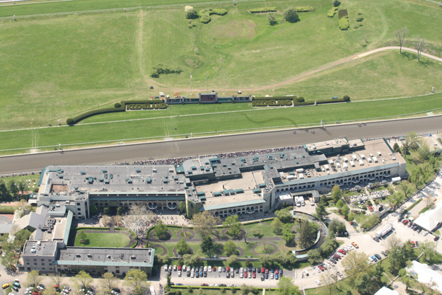 Aerial view of Keeneland taken in 2011. Photo: Keeneland.