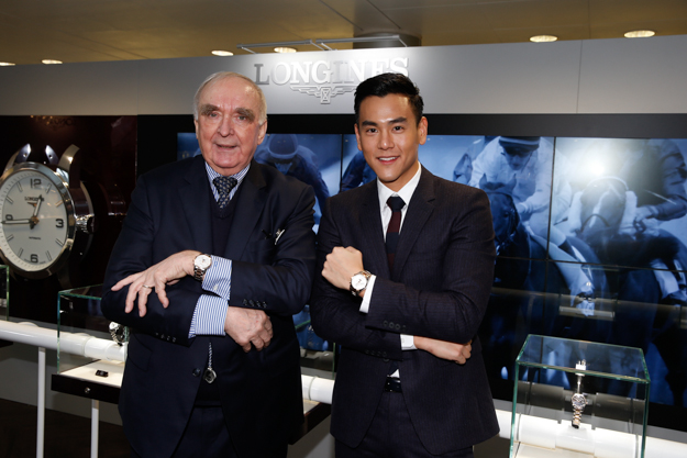 Longines President Walter von Känel and Eddie Peng, Longines ambassador, at the Longines Hong Kong International Races. Photo: Stefano Grasso.