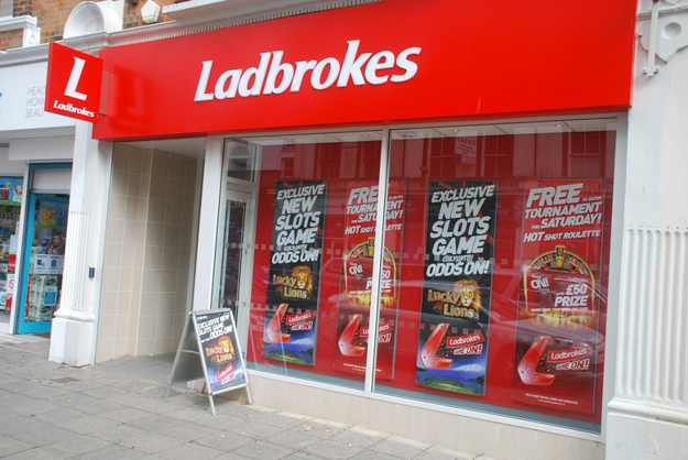 A Ladbrokes betting shop in Britain. Photo: John Gilmore