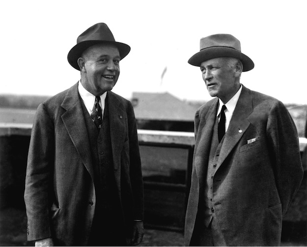 Jack with Hal Price Headley, first president of the Keeneland Association.  Photo:  Keeneland Library