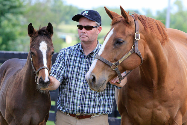 Mark Moloney with Littleprincessemma and Irish Pharaoh. Photo: Michele MacDonald