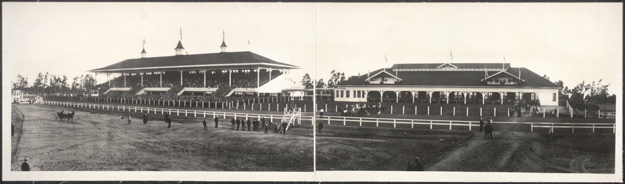 Lucky Baldwin's original Santa Anita racecourse. It operated for a mere two years from 1907-09. Photo via the Library of Congress.