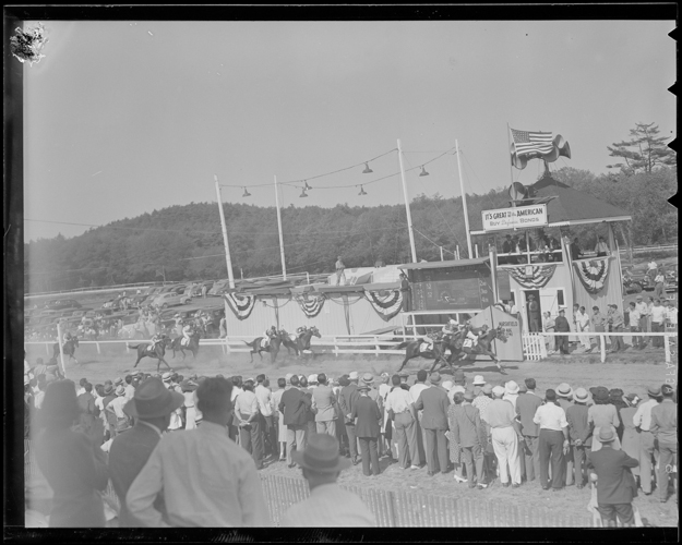 Marshfield Fair racetrack in 1941. Photo provided by the Boston Public Library.