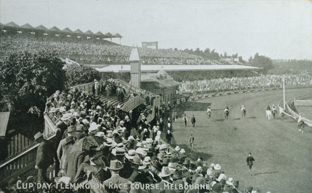 Melbourne Cup Day circa 1920. Photo via Turnberry Consulting.