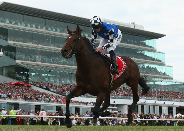 Protectionist wins the Melbourne Cup. Photo: 2014 Getty Images.