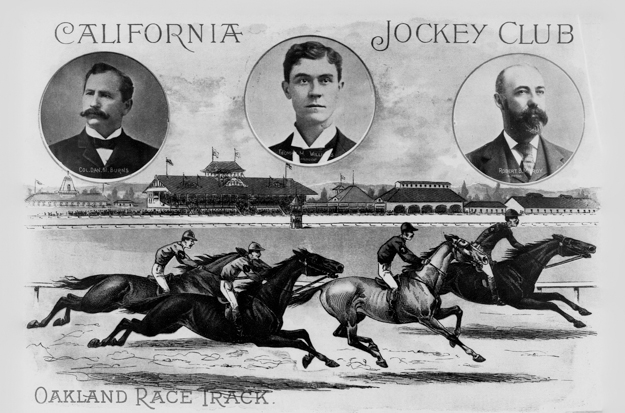 The New California Jockey Club assumed control of the erstwhile Oakland Trotting Park in 1896, and transformed it into the Bay Area's newest thoroughbred venue. Image from San Francisco Call, 19 December 1897