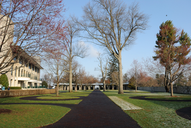 Keeneland paddock, view toward saddling stalls. Photo: Isabelle Taylor.