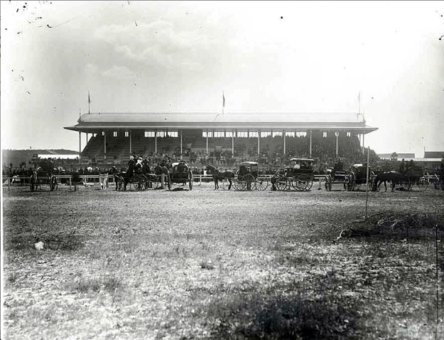 The Grandstand, built 1875/6. Credit State Records Authority of New South Wales