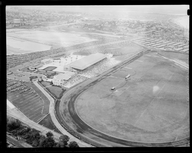 Suffolk Downs aerial shot circa 1935. Photo provided by the Boston Public Library.