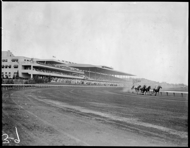 Suffolk Downs in the 1930s. Photo provided by the Boston Public Library.