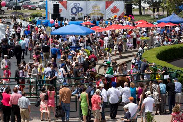 Racegoers at Woodbine on 2013 Queen's Plate Day. Photo: WEG/Michael Burns Photo.