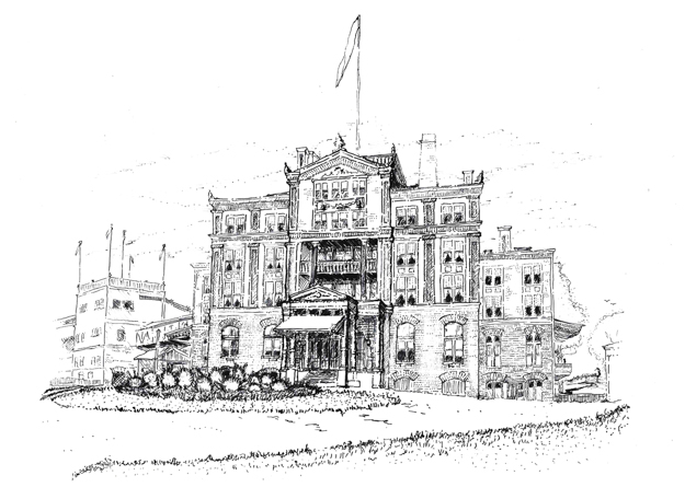 The palatial clubhouse of Morris Park, opened 1889. Image via Turnberry Consulting.
