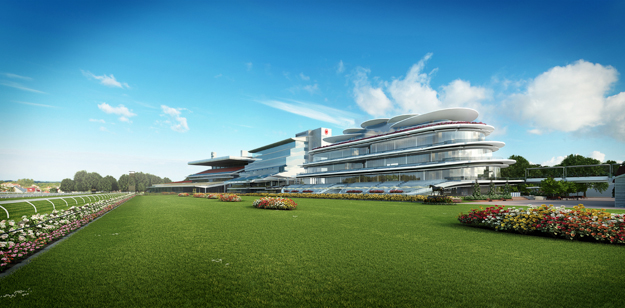 Proposed trackside panorama from east. Image courtesy of the Victoria Racing Club.