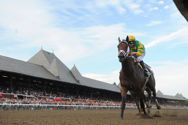 Palace Malice, seen here winning the 2013 G2 Jim Dandy, comes back to Saratoga this year for the Whitney.