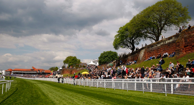 The crowd on the hill at Chester Racecourse. RacingFotos.com