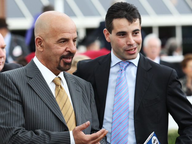 Dr. Marwan Koukash and Marco Botti after a win at Chester Racecourse. Photo: RacingFotos.com