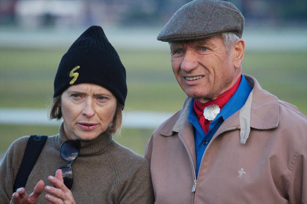 Gai and trainer Monty Roberts. Photo: GaiWaterhouse.com.au.