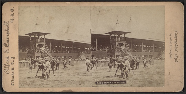 Photograph of Saratoga Race Course in 1896 taken by Alfred S. Campbell.