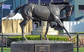 The stamp of greatness: Thoroughbred legends in sculpture