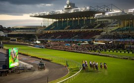 Friday night lights at Moonee Valley