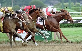 Racing's 'Bad Boy' Coronado's Quest holds on by a nose in the 1998 Travers