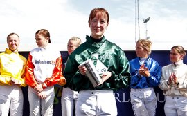 She may be Japan's only female jockey, but she's on top of the world right now