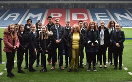 Pupils' racecourse history work goes on display at national sports stadium