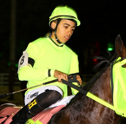 Leandro Henrique: the first apprentice to be champion at Gávea racecourse in Rio de Janeiro. Photo: Jockey Club Brasileiro