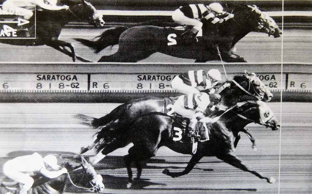 The photo finish revealed Jaipur on the outside as the winner of the 1962 Travers