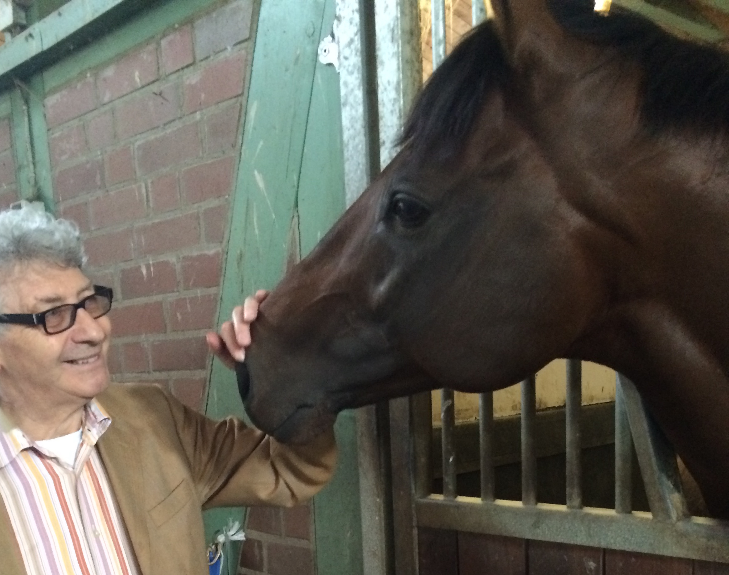 Happy at home: Protectionist with TRC correspondent David Conolly-Smith recently. Photo: Susi Wöhler